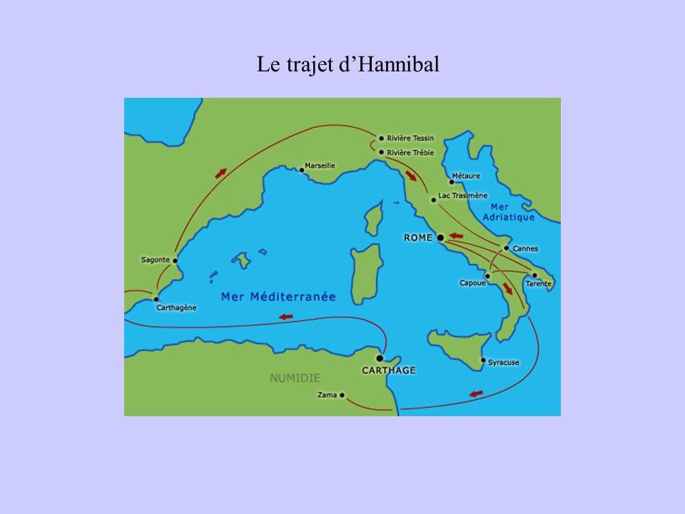 Le trajet d'Hannibal
