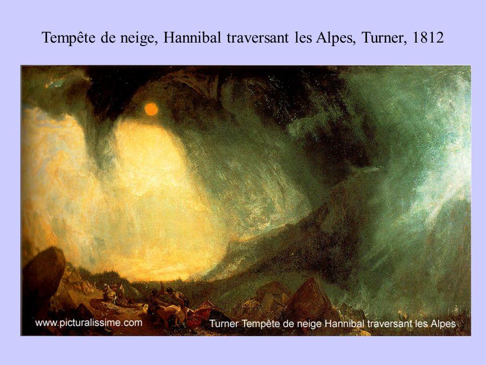 Tempête de neige, Hannibal traversant les Alpes, Turner, 1812