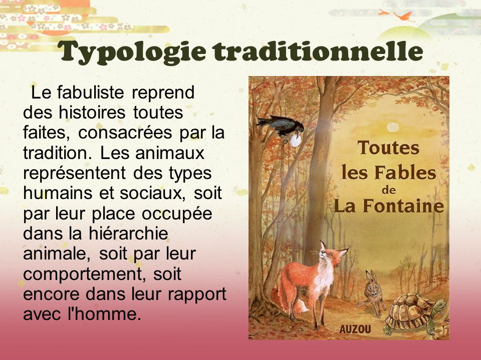 Typologie traditionnelle