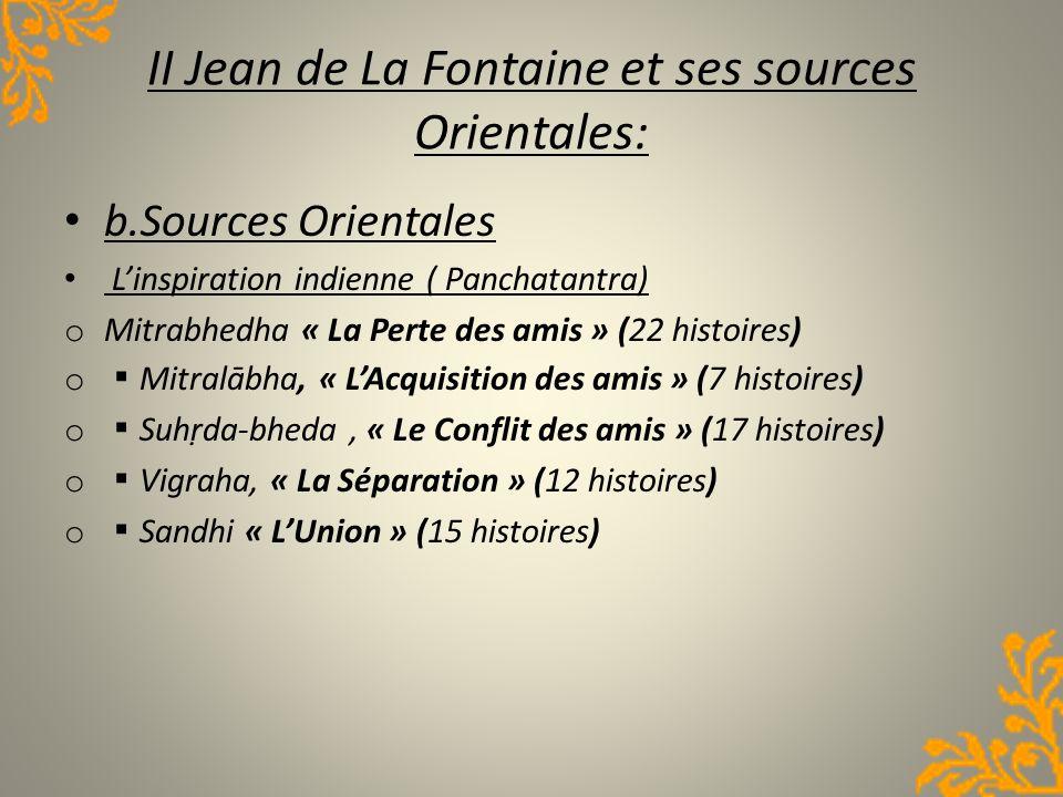 II Jean de La Fontaine et ses sources Orientales: