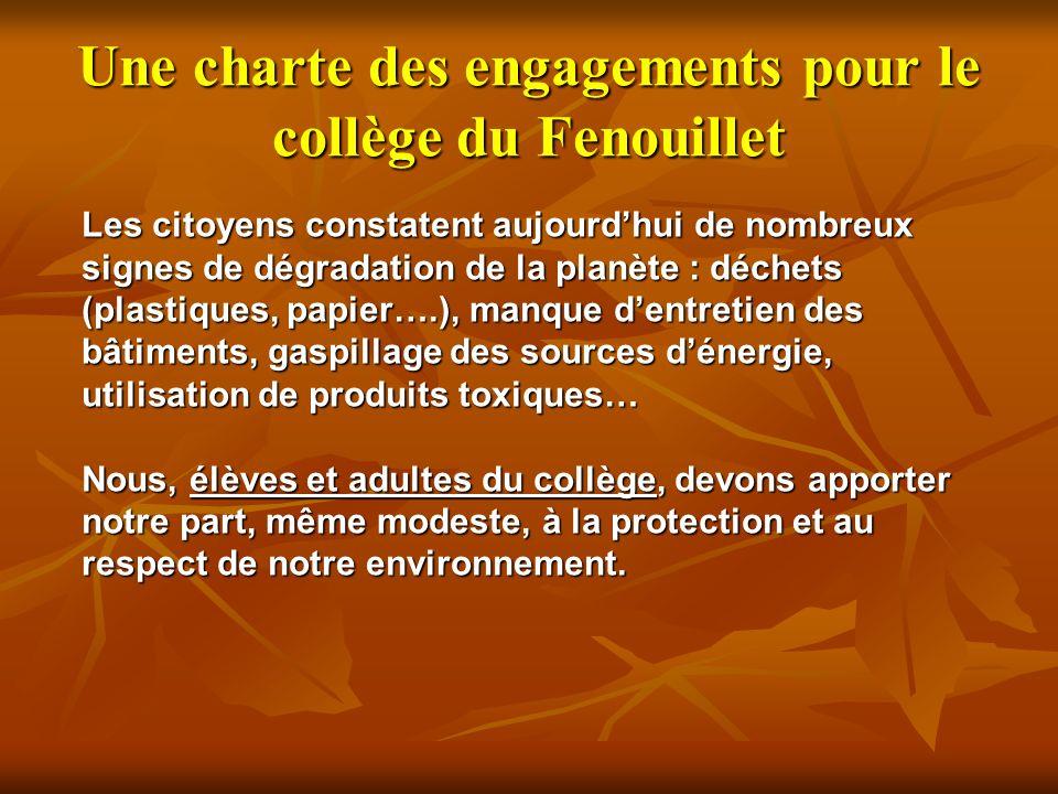 Une charte des engagements pour le collège du Fenouillet