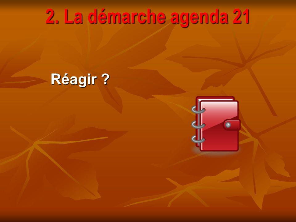 2. La démarche agenda 21 Réagir