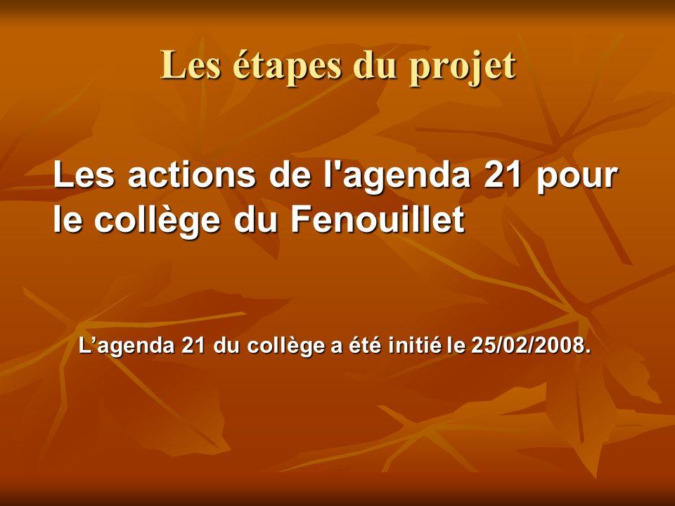 L'agenda 21 du collège a été initié le 25/02/2008.