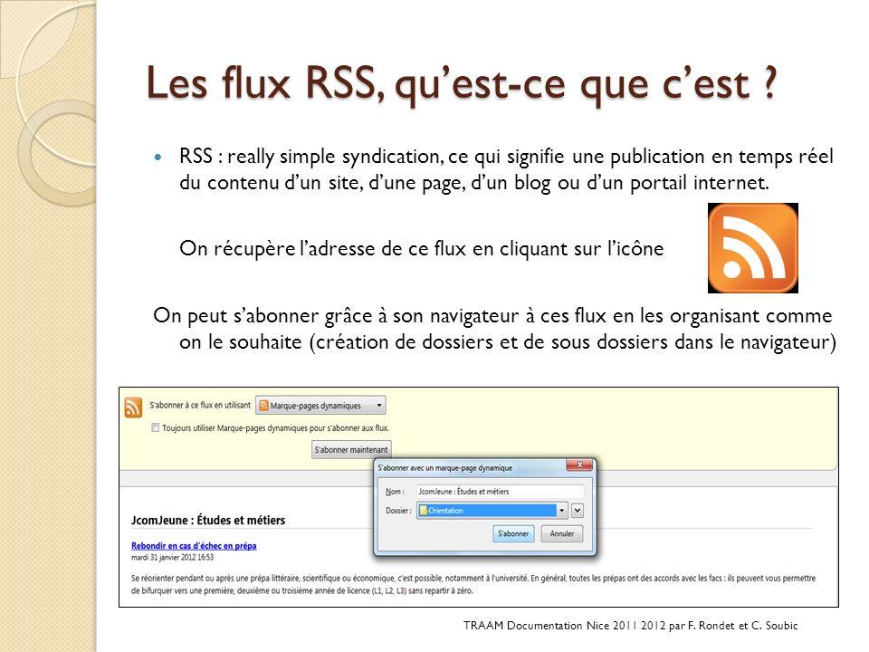 Les flux RSS, qu'est-ce que c'est
