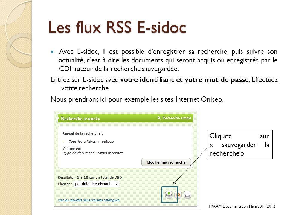 Les flux RSS E-sidoc