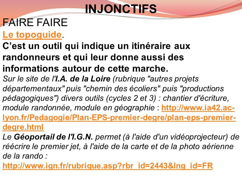 INJONCTIFS FAIRE FAIRE Le topoguide.