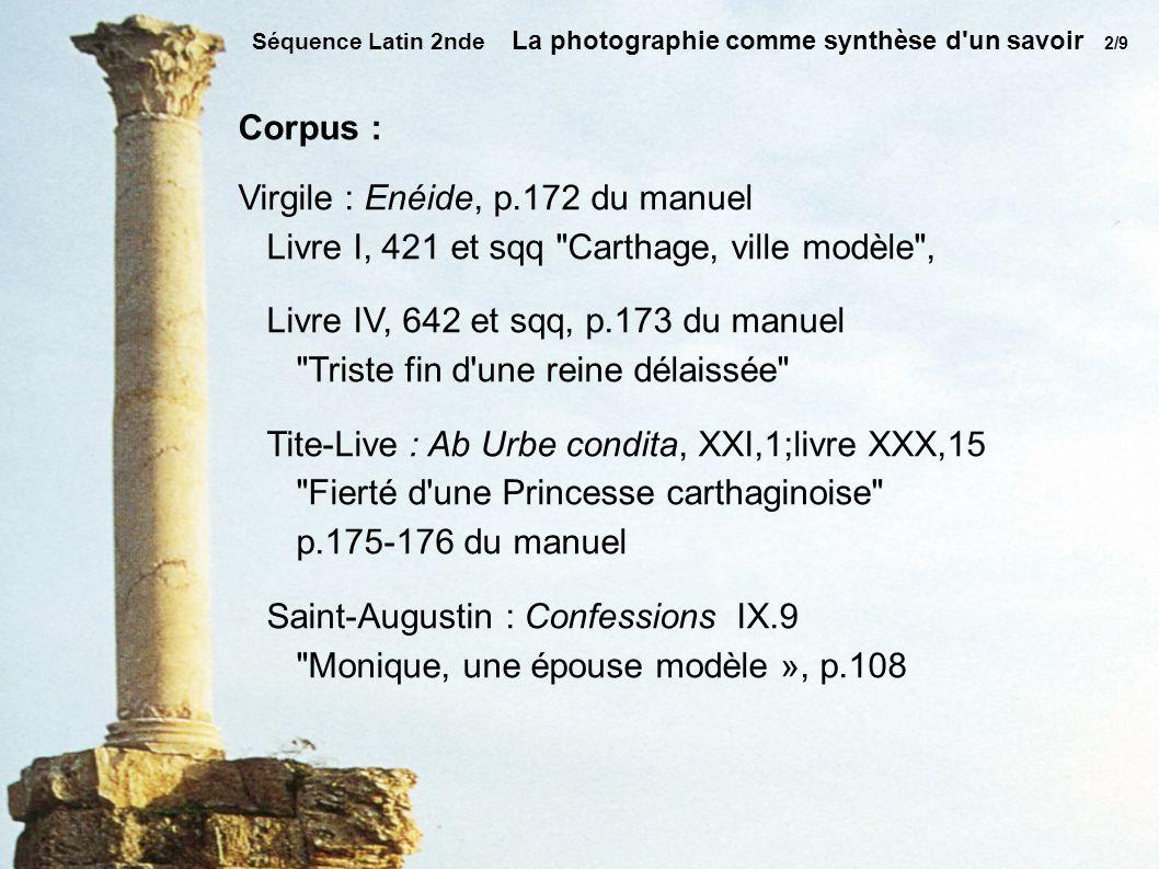 Virgile : Enéide, p.172 du manuel