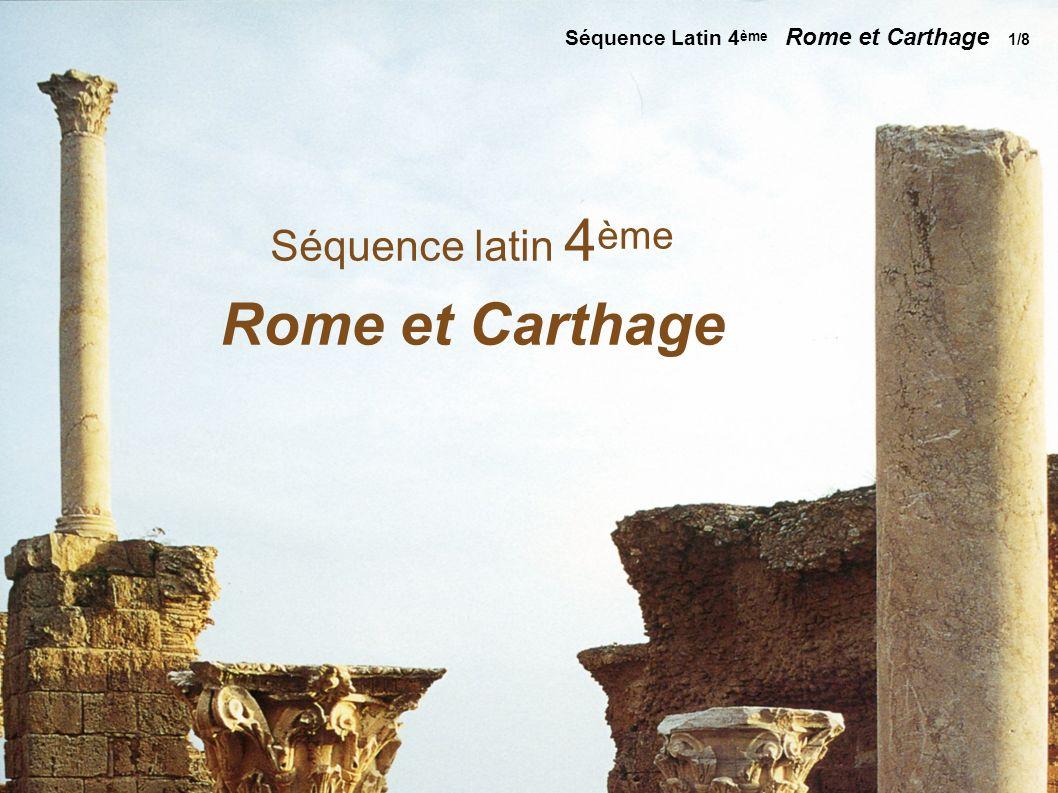 Rome et Carthage Séquence latin 4ème
