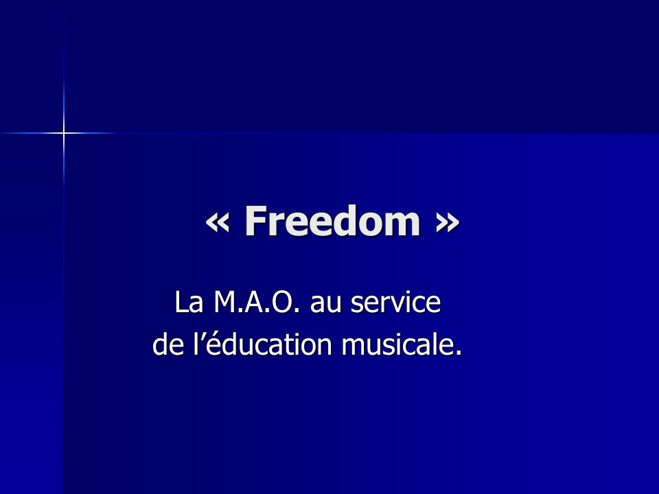 La M.A.O. au service de l'éducation musicale.