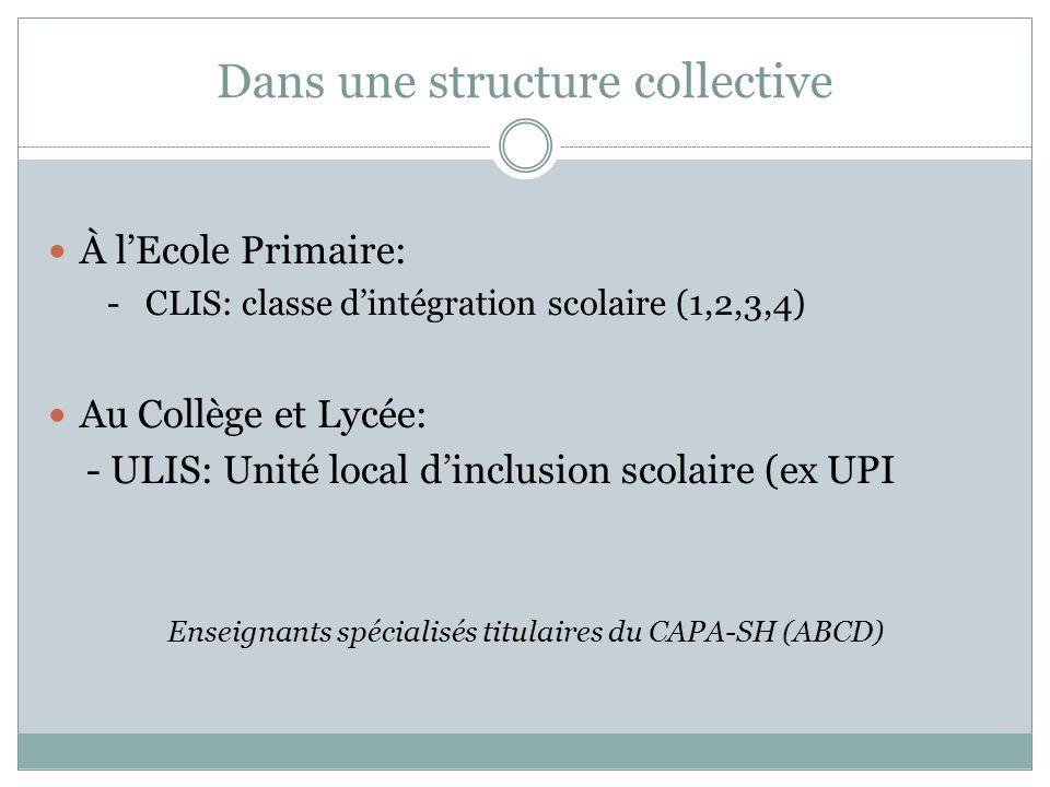 Dans une structure collective