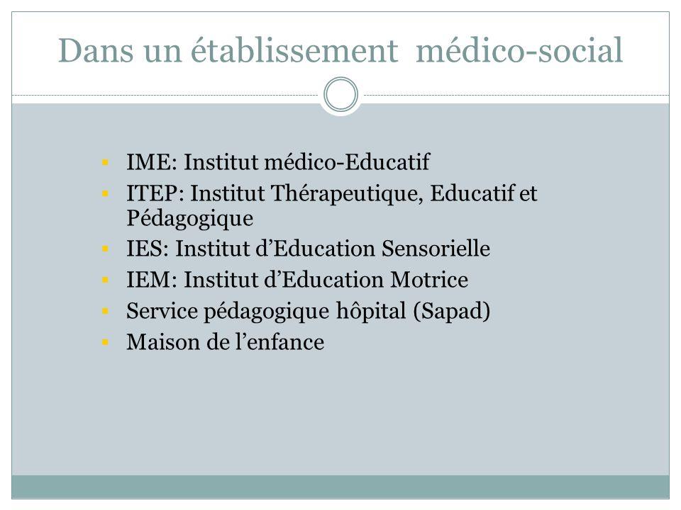 Dans un établissement médico-social