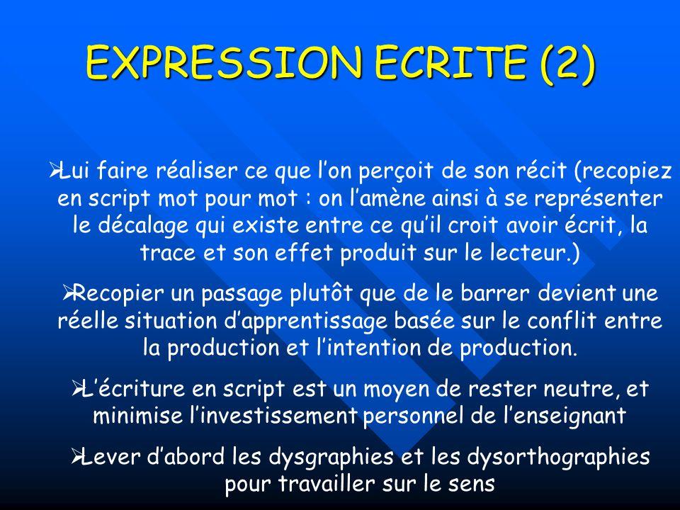 EXPRESSION ECRITE (2)