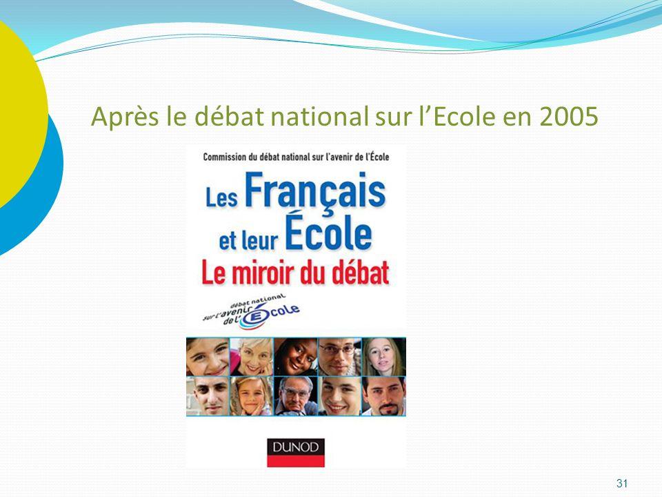 Après le débat national sur l'Ecole en 2005