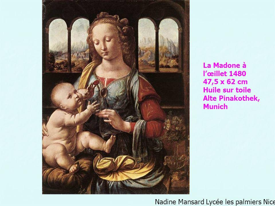 La Madone à l'œillet 1480 47,5 x 62 cm Huile sur toile.