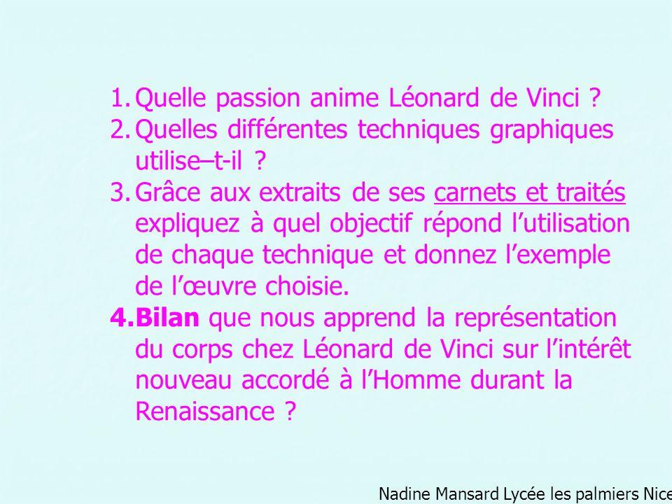 Quelle passion anime Léonard de Vinci