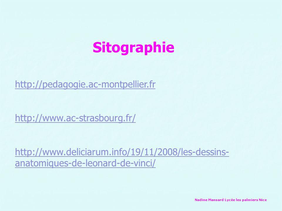 Sitographie http://pedagogie.ac-montpellier.fr