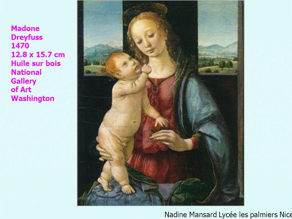Madone Dreyfuss 1470. 12.8 x 15.7 cm. Huile sur bois.