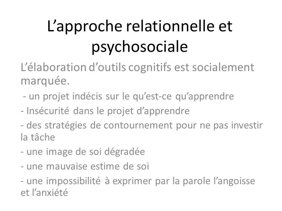 L'approche relationnelle et psychosociale