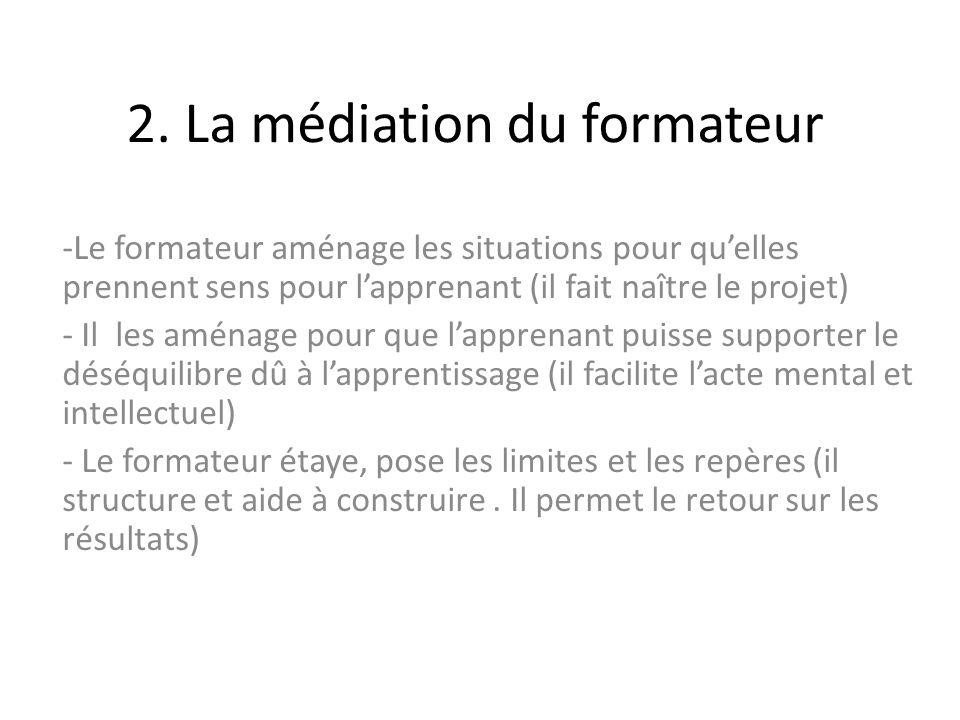 2. La médiation du formateur
