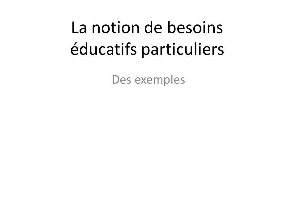 La notion de besoins éducatifs particuliers