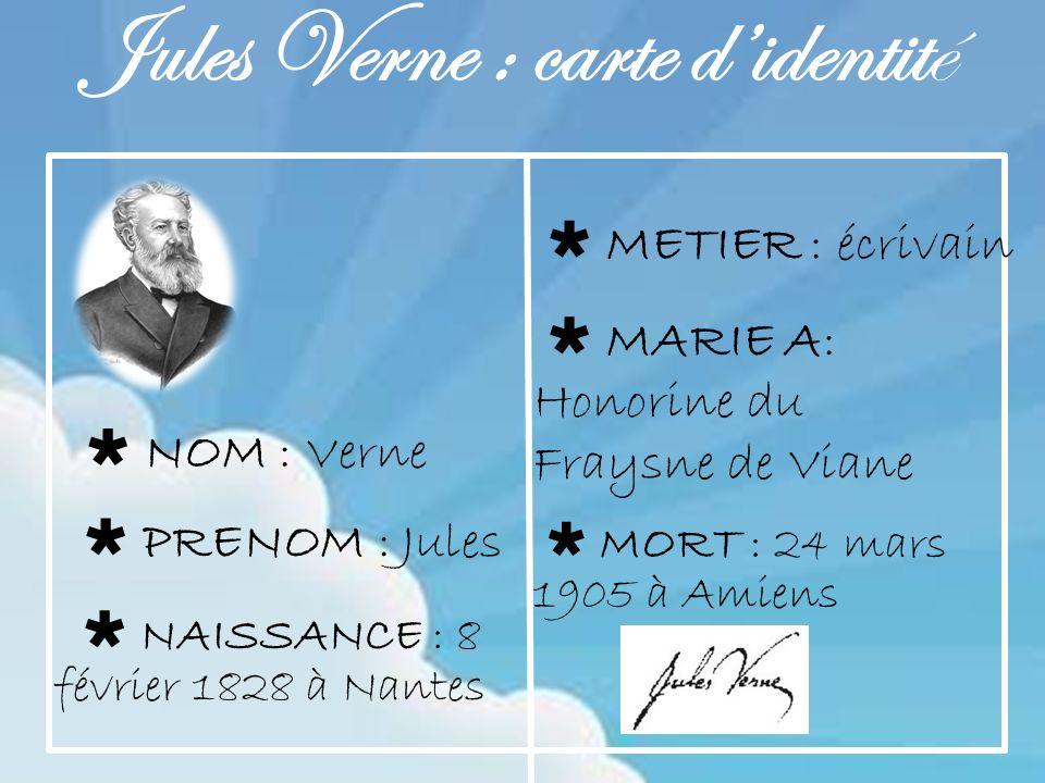 Jules Verne : carte d'identité