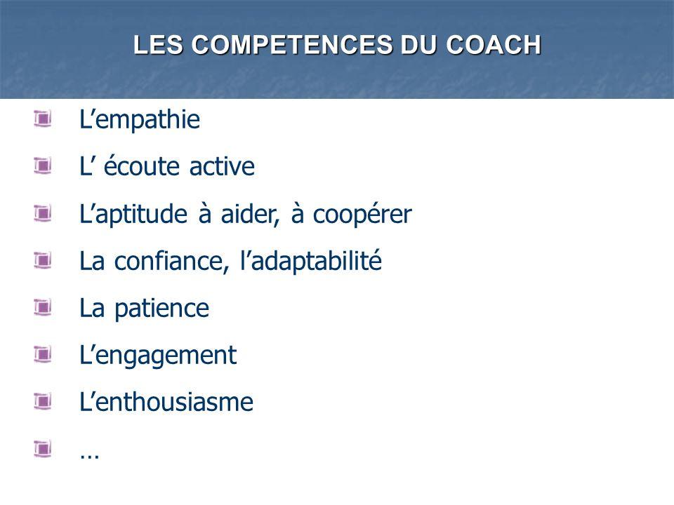 LES COMPETENCES DU COACH