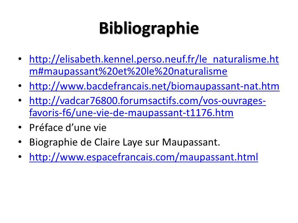 Bibliographie http://elisabeth.kennel.perso.neuf.fr/le_naturalisme.htm#maupassant%20et%20le%20naturalisme.