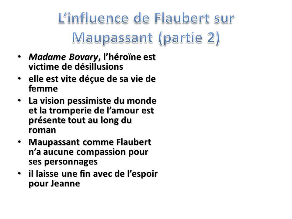 L'influence de Flaubert sur Maupassant (partie 2)