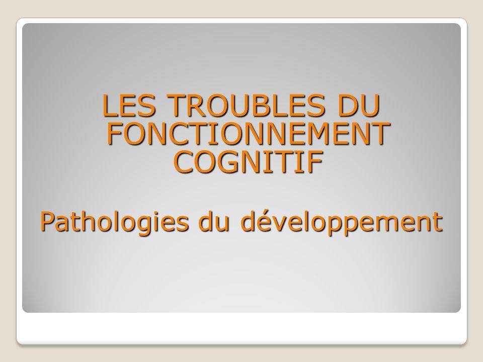 LES TROUBLES DU FONCTIONNEMENT COGNITIF