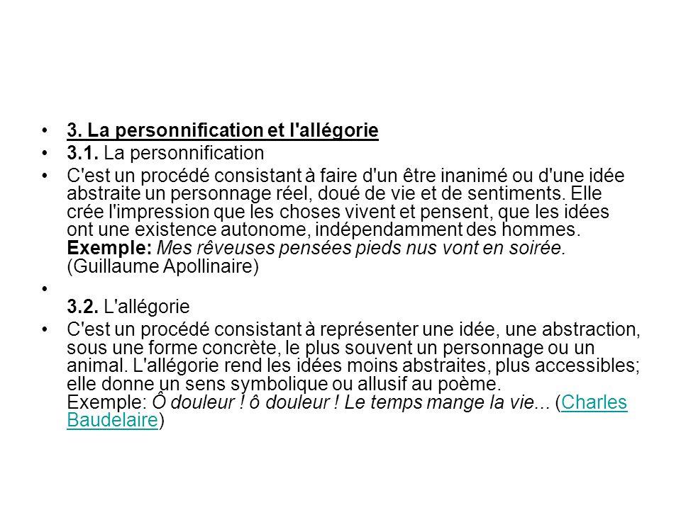 3. La personnification et l allégorie