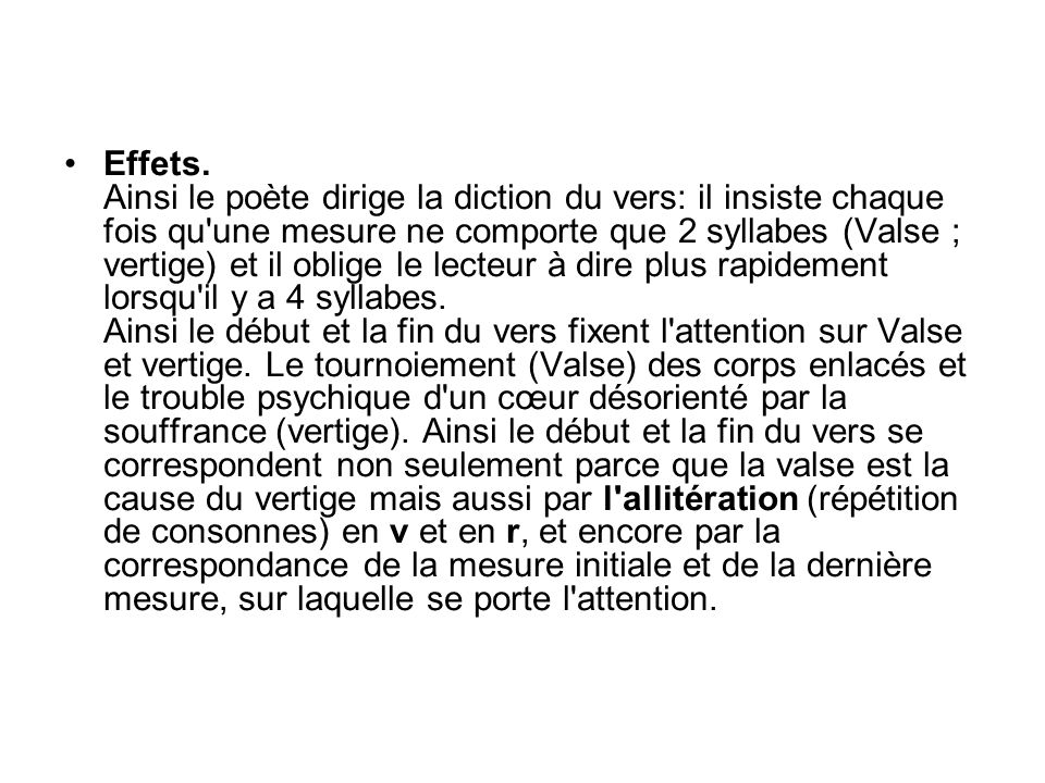 Effets.