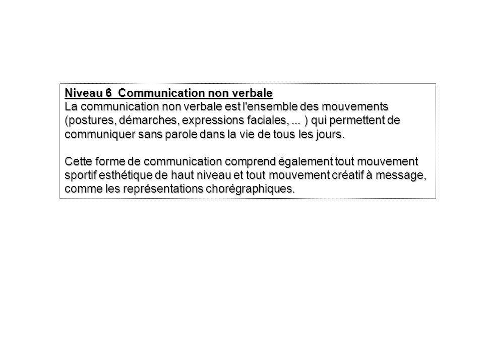 Niveau 6 Communication non verbale