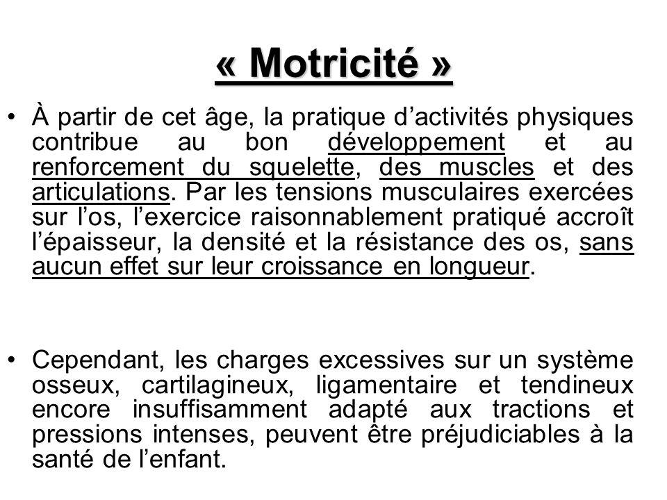 « Motricité »