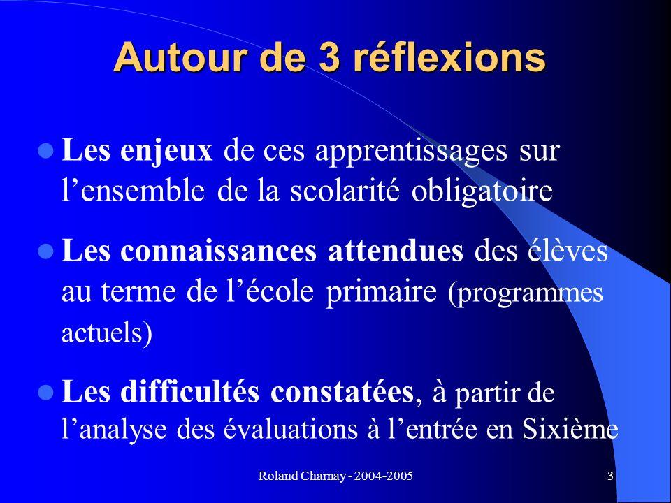Autour de 3 réflexions Les enjeux de ces apprentissages sur l'ensemble de la scolarité obligatoire