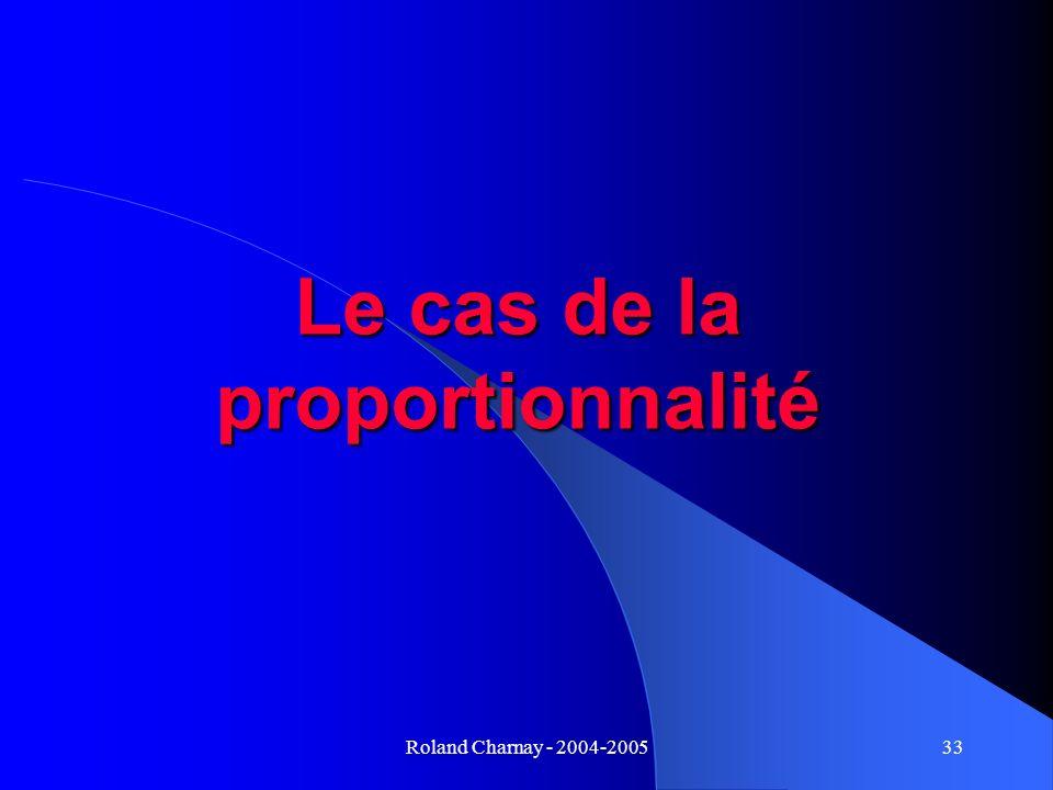 Le cas de la proportionnalité
