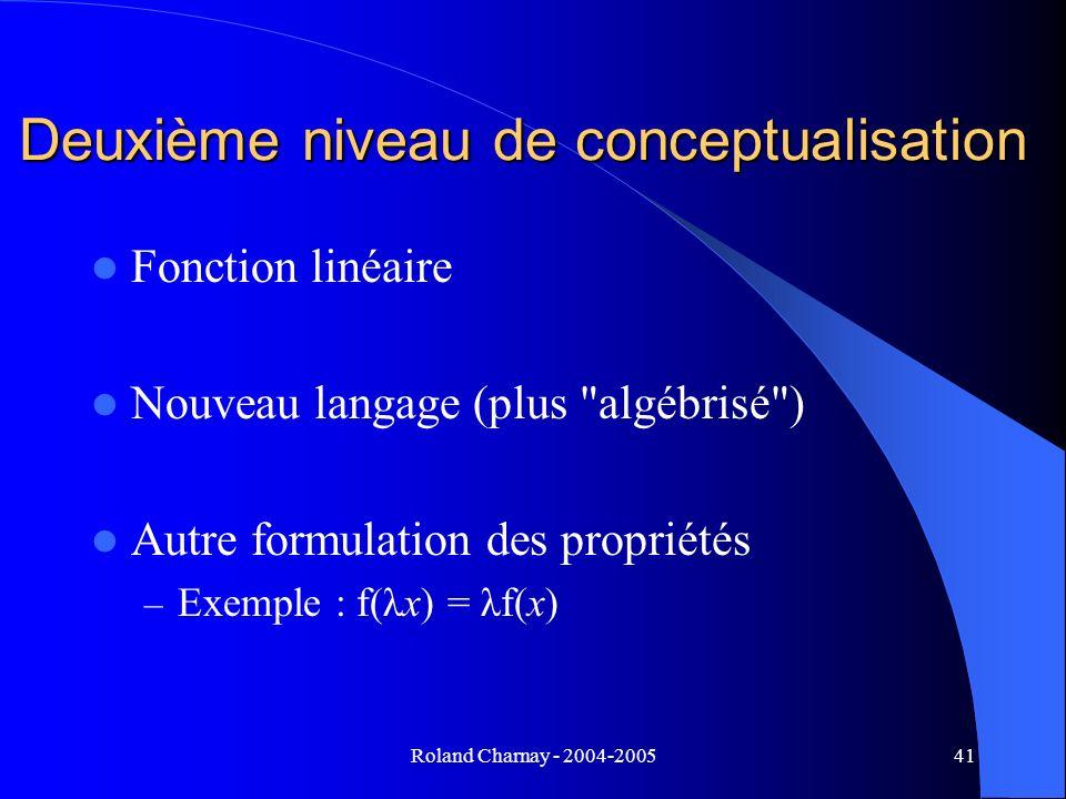 Deuxième niveau de conceptualisation