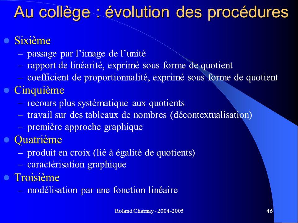 Au collège : évolution des procédures