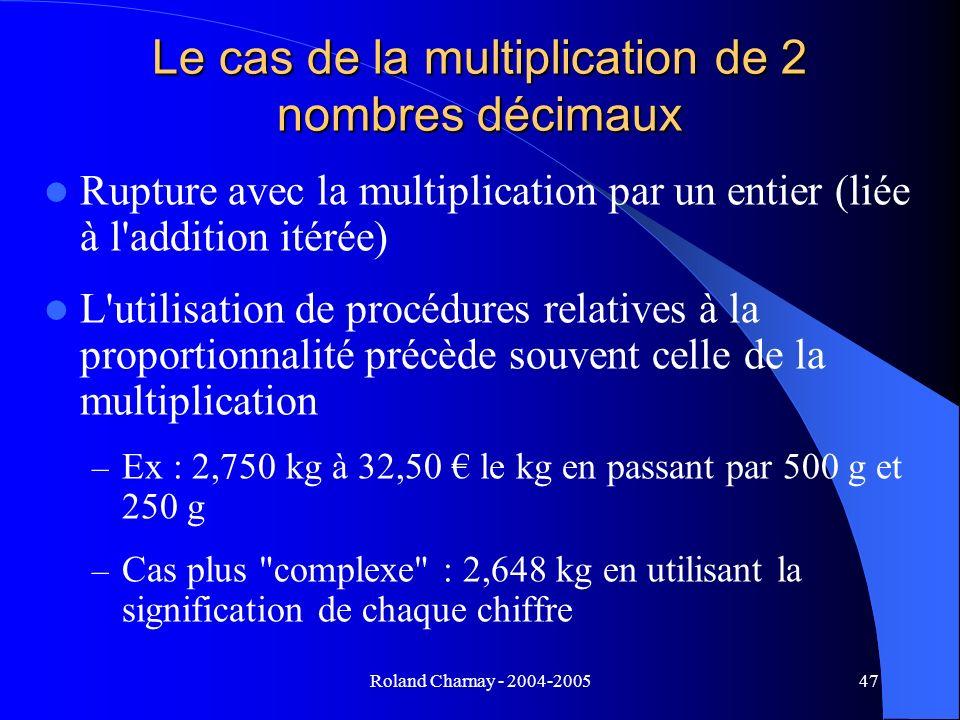 Le cas de la multiplication de 2 nombres décimaux