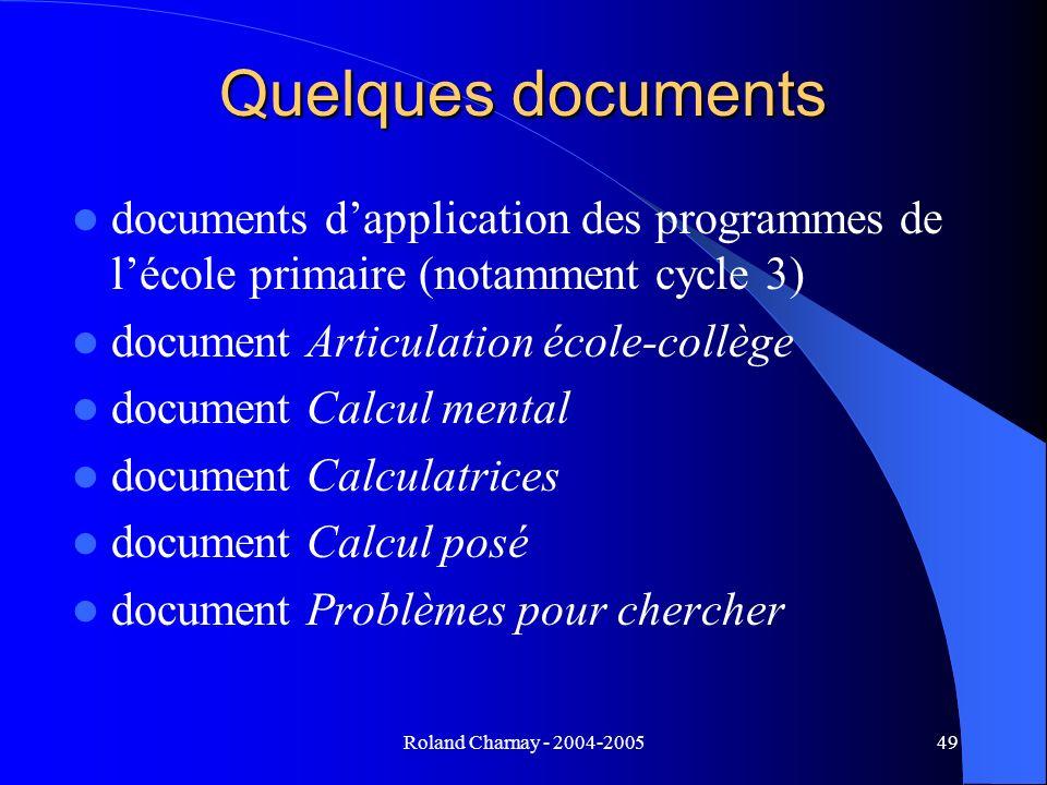 Quelques documents documents d'application des programmes de l'école primaire (notamment cycle 3) document Articulation école-collège.