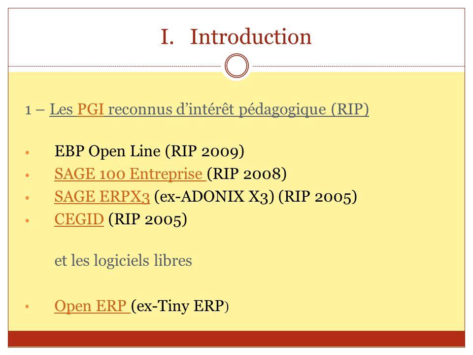 Introduction 1 – Les PGI reconnus d'intérêt pédagogique (RIP)
