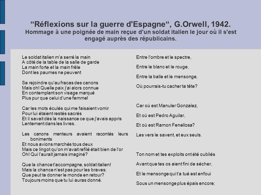 Réflexions sur la guerre d Espagne , G. Orwell, 1942