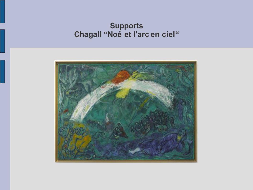 Supports Chagall Noé et l arc en ciel