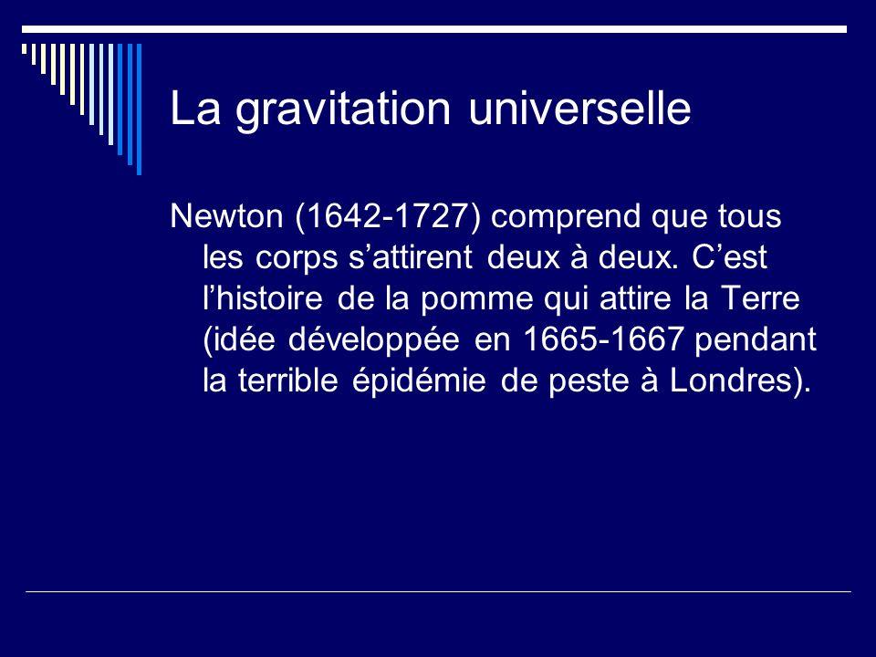 La gravitation universelle