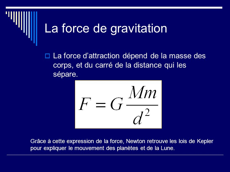 La force de gravitation