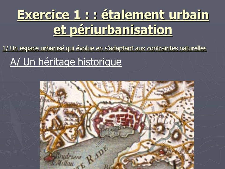 Exercice 1 : : étalement urbain et périurbanisation