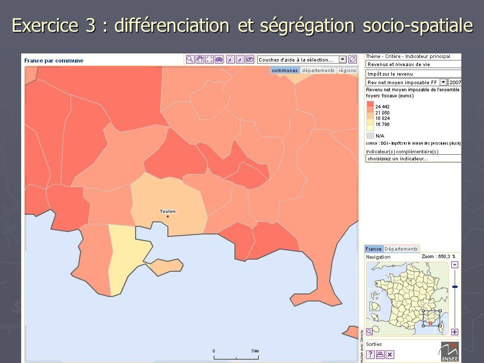 Exercice 3 : différenciation et ségrégation socio-spatiale