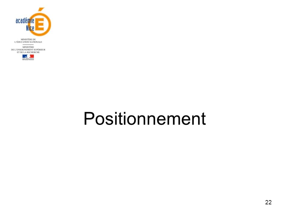 Positionnement