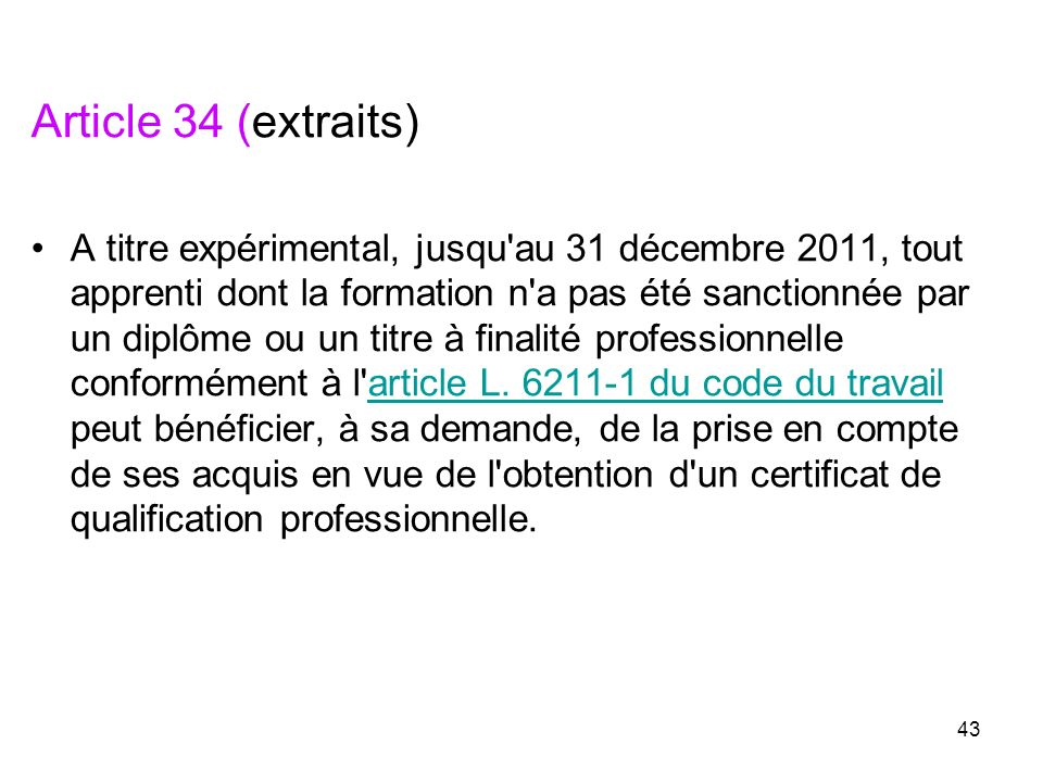 Article 34 (extraits)