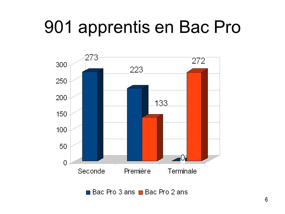 901 apprentis en Bac Pro