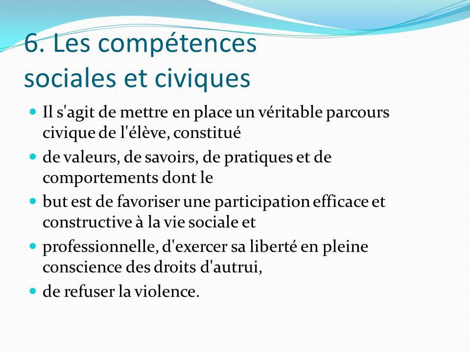 6. Les compétences sociales et civiques